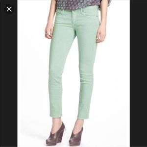AG 4 Anthropologie Stevie ankle mint green 27